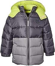 Sportoli Boys Hooded Fleece Lined Colorblock Winter Outerwear Puffer Jacket Coat