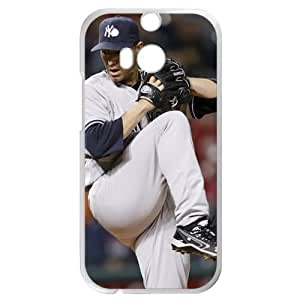 MLB&HTC One M8 White New York Yankees Gift Holiday Christmas Gifts cell phone cases clear phone cases protectivefashion cell phone cases HABC605585096