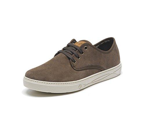 Natural World–Sneaker Herren Blucher Suede 824-830-marron