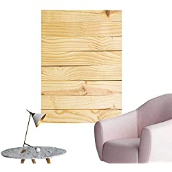 """Vinyl Artwork Wood Texture with Natural Pattern Background Easy to Peel Easy to Stick,32""""W x 60""""L"""