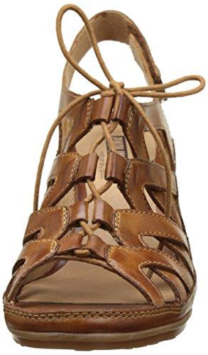 Pikolinos Java W0k_v17, Sandalias con Cuña Para Mujer Marrón (Brandy)