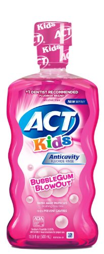 Act Kids Anticavity Fluoride Mouthwash, Bubble Gum Blow O...