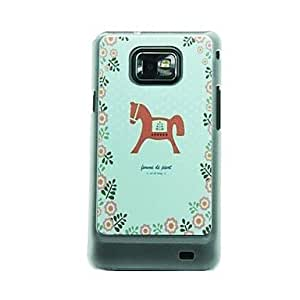 TOPMM Lace Trojan Leather Vein Pattern Hard Case for Samsung Galaxy S2 I9100