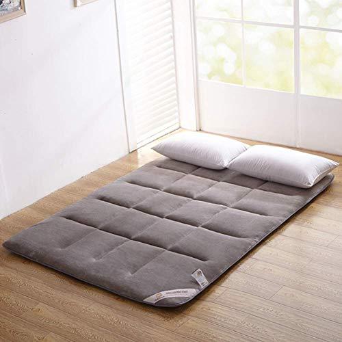 V-mix Floor Futon Mattress Japanese Twin Sleeping Pad Tatami Mat Bed Roll Up Mattress Flannel - Thick Pad Futon