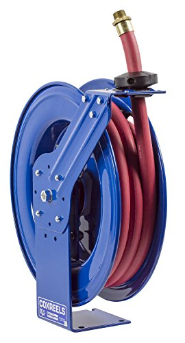 Coxreels SHF-N-525 Fuel reel, Single pedestal hose reel with Super Hub, spring driven. 3/4