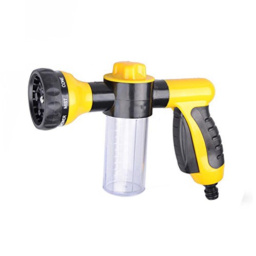 8-Way Heavy Duty Flow Control Hand Spray Nozzle Foam Car Washer Gun for Car Wash, Bath Pets, Watering Plants & Lawn, Patio