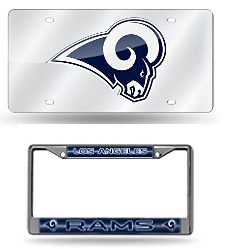 Rico Industries NFL Los Angeles Rams Colored Chrome Plate Frame Navy