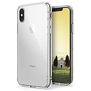 Capa Antichoque para iPhone X, Ringke Fusion (Híbrida, Air Cushion, Certificado MIL-STD 810G), Apple iPhone X