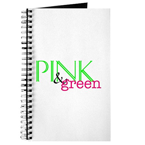 CafePress - Pink & Green Sorority - Spiral Bound Journal Notebook, Personal Diary, Dot Grid