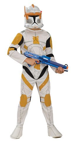 [Star Wars Clone Wars Clone Trooper Child's Commander Cody Costume, Large by Rubie's] (Star Wars Commander Cody Costumes)