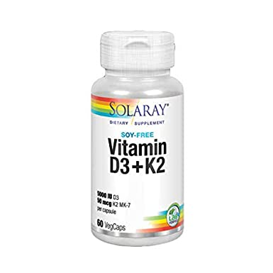 Solaray Vitamina D3 + K-2 (MK7) - 60 vcaps.: Amazon.es ...
