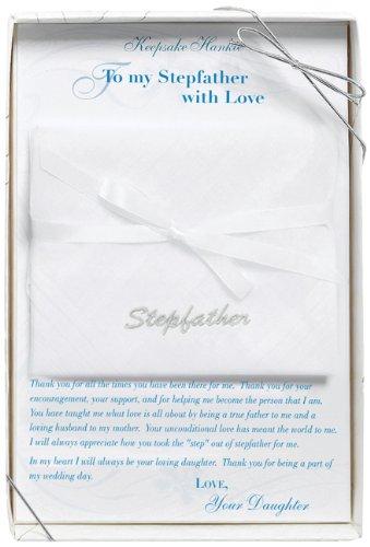 Joy Handkerchief (Lillian Rose Stepfather Wedding Gift Embroidered Hankie)