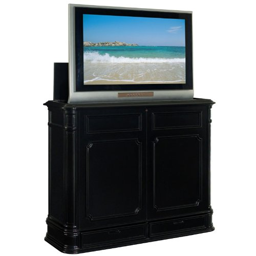 TV Lift Cabinet Extra Large for 40-52 inch Flat Screens (Black) AT004873-BLK