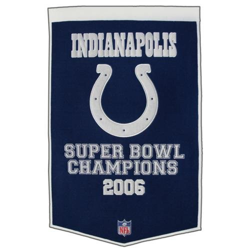 - Indianapolis Colts Super Bowl Championship Dynasty Banner - with hanging rod
