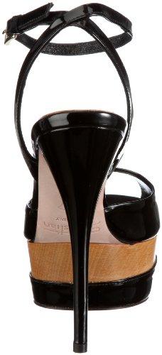 Sebastian WOMANS SHOE S5202 VERNER - Sandalias clásicas de tela para mujer Negro