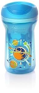 Tommee Tippee 30036 0011 Explora - Vaso con boquilla (300 ml, a partir de 24 meses), color azul