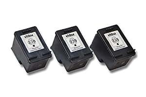 vhbw 3x Cartuchos para impresora cartuchos de tinta para HP PSC 1500, 1510, 1510xi, 1513, 1513s, 1600, 1605, 1610, 2350, 2352, 2353 por HP 338 C8765EE