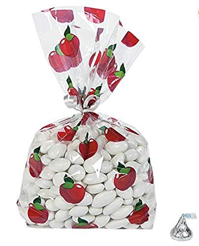 Fall Apple Cellophane Bags (2 Dozen)