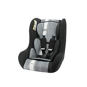 Siège auto TRIO groupe 0/1/2 (0-25kg) – Dos à la route jusque 13kg – fabrication française – Nania Linea gris