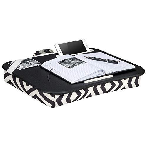 LapGear XL Designer Lap Desk,  - Black & White Geo (Fits up to  17.3 Laptop)