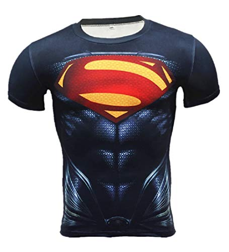 Super-Hero Series Compression Sports Shirt Runing Fitness Gym Men's Base Layer