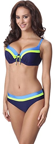 Donna Limone Bikini Blu Blu Marino Completo Style Merry P62378TSG CztqZcw