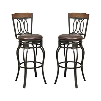 Amazoncom Hillsdale Montello 32 Inch Swivel Bar Stool Old Steel