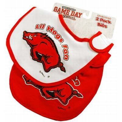 NCAA Arkansas Razorbacks Infant Bib 2-Piece Set
