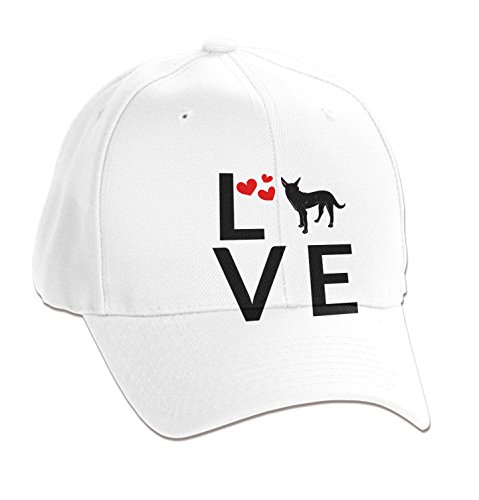 Formosan Mountain Dog Love Heart 6-Panel Brushed Cotton Twill Unstructured Cap Adult White