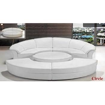 Amazon.com: Contemporary Plan Modern Circle Sectional Sofa ...