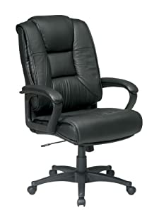 Amazon.com: Office Star EX5162 Deluxe High Back Executive Leather ...