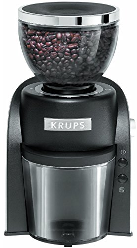 KRUPS GX6000 Burr Coffee Grinder with Grind Size and Cup Selection, 8-Ounce, Black (Burr Grinder Krups compare prices)