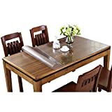 plastic tabletop cover - Eralove Rectangle 1.5mm & 2mm Thick Crystal Clear Table Top Protector Plastic Transparent PVC Tablecloth Kitchen Dining Room Wood Furniture Protective Cover (24 x 48 inches, 2mm)