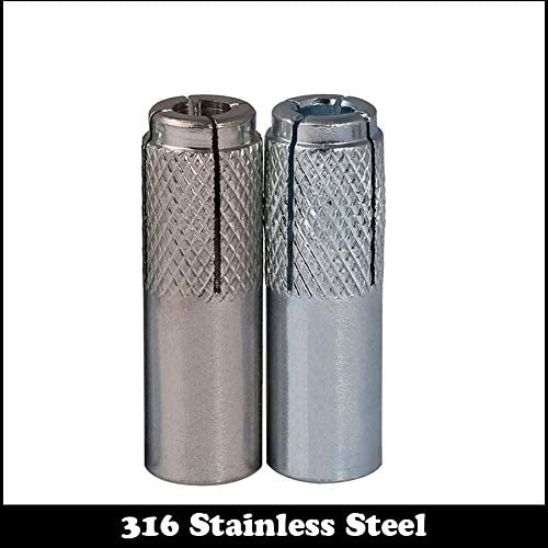 Size : 1Pc 304ss M10 M6 M8 M10 M12 M16 304 316 Stainless Steel Anchor Internal Expansion Sleeve Bolt Expanding Implosion Gecko Level Burst Screw Pipe