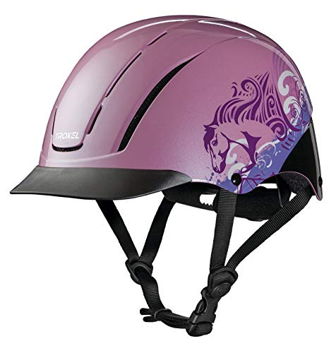 Equine Riding Apparel (Troxel Spirit Performance Helmet, Pink Dreamscape, X-Small)