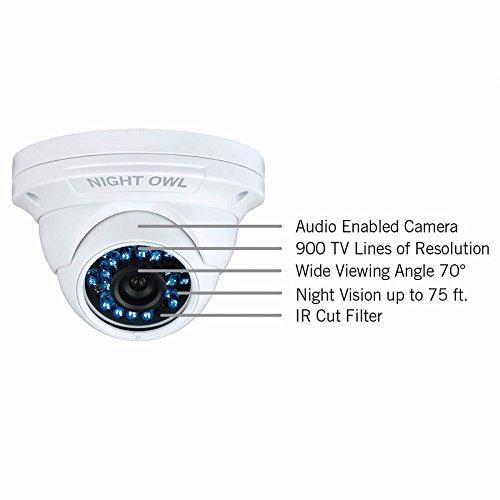 Night Owl cam-dm924 a - Cámara de vigilancia (CCTV, Interior y Exterior, Dome, con alambre, blanco, Ceiling/Wall): Amazon.es: Electrónica