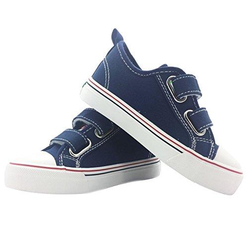 Barerun Baby Jungen Mädchen Schuhe Canvas Sneaker Anti-Rutsch-erste Wanderschuh für Kleinkind Blau