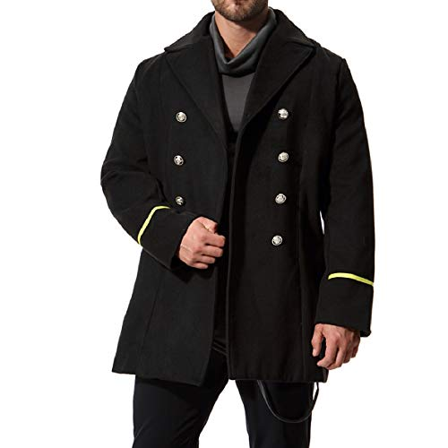 Length Double Solid Collar Jacket Mid XINHEO Parka Mens Breasted Turn 3 Down Woolen 0a1Yq