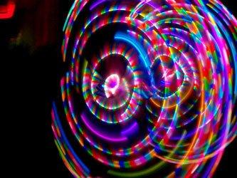 "42"" 106cm 2-piece Phoenix - LED Hula Hoop By Colorado Hula Hoops"