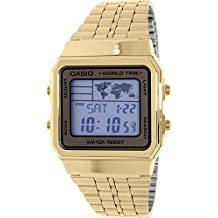 Casio Men's A500WGA-9 Gold Stainless-Steel Quartz Watch