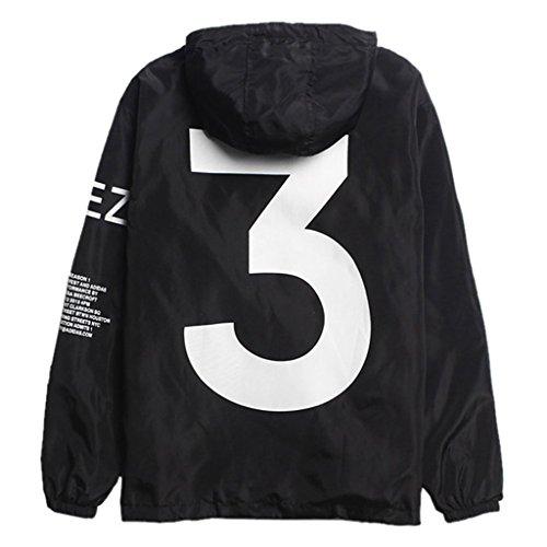 (Cimno Running Full Zip Hooded Windbreaker Lightweight Athletic Track Jackets For Men Black M)