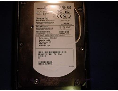 DELL ST3146755SS-1 146gb 10K 3.5 SAS Hard drive Dell Labeled