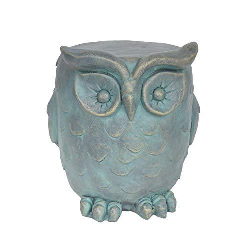 Great Deal Furniture 307406 Agnes Owl Garden Stool, Lightweight Concrete, Gold Patina - Garden Stool Finish
