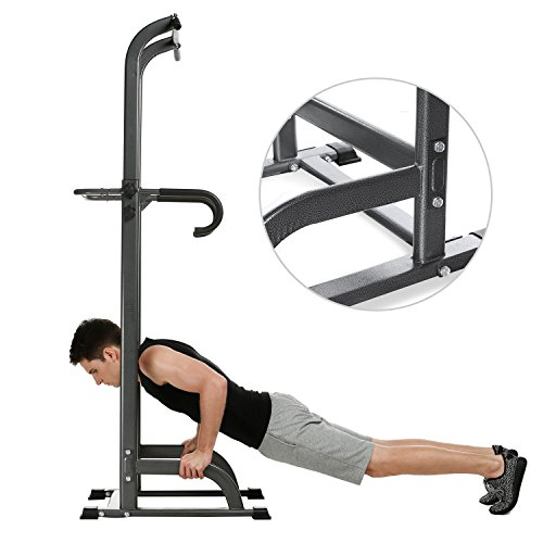 Jway Adjustable Power Tower, Pull Up Chin Up Bar, Pull Up Station, Pull Up Tower for Home Gym