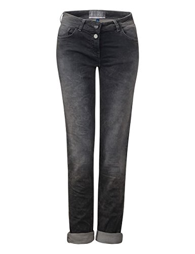 Donna Cecil grey Taglio Dritto Jeans Grau Tapered Used Wash 10189 Charlize A UYUw6
