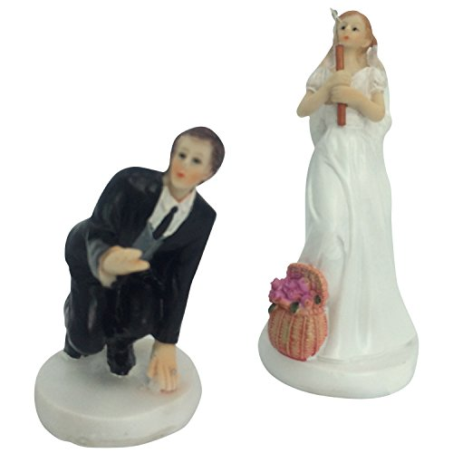 6inch Gone Fishing Wedding Cake Topper Wedding Engagement Anniversary Bridal shower Party Cake Decoration Figurine Keepsake ()