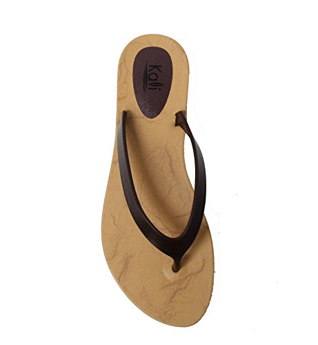 Kali Footwear Women's Cocoa Flat Thong Sandals (10 B(M) US, Plus Brown)
