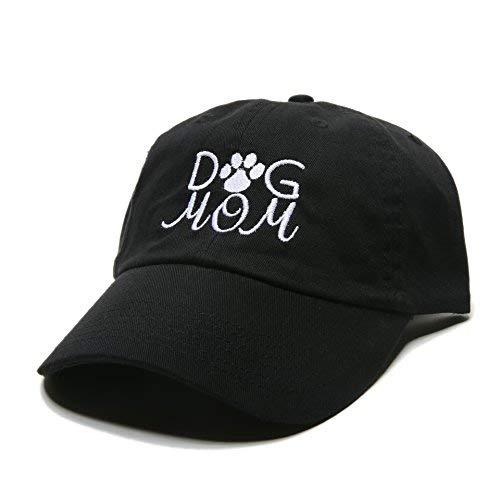 4abdec4d44971 Dog Mom Baseball Cap Embroidered Dad Hat Unstructured Low Profile  Adjustable Strap Back (Black)