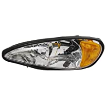 OE Replacement Pontiac Grand AM Driver Side Headlight Assembly Composite (Partslink Number GM2502196)