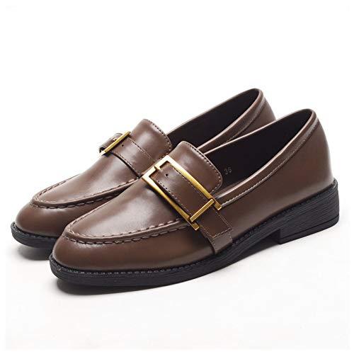 Flat Moccasin Plnxdm De Brown École Chaussures Mocassins Chaussons Travail Flats Bureau Casual Femmes ONkXZnw80P